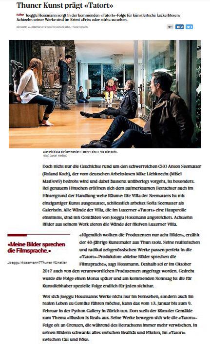 """Pressemitteilung Tatort """"Friss oder stirb""""."""